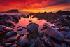 Minnamurra (stevoarnold) Tags: ocean red sea seascape clouds sunrise rocks purple australia nsw sunburst kiama minnamurra illawarra minnamurrariver