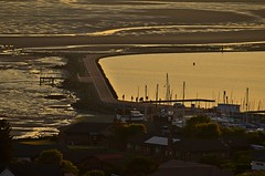 Sun down marina (3peaker (alun.disley@ntlworld.com)) Tags: sunset sea england building beach water reflections boats wirral merseyside nikond5100 3peaker