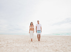 couple (*michael sweet*) Tags: morning light vacation woman man beach walking mexico couple bright together stroll