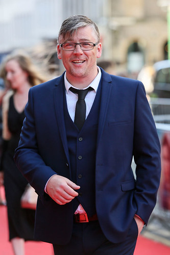 Stephen McCole arriving on the red carpet for Breathe In at the Festival Theatre
