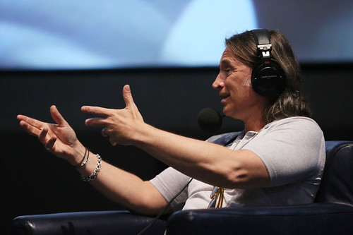 Actor Robert Carlyle joins DJ Simon Mayo and Film Critic Mark Kermode during the Radio 5 Live event at the Cineworld