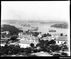 View of Sydney Harbour from Neutral Bay looking towards Fort Denison and Garden Island