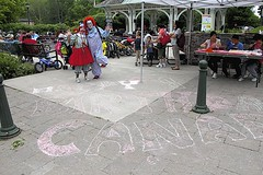 Clowns on Canada Day (Unionville BIA) Tags: street canada festival fun day main millennium clowns bandstand unionville
