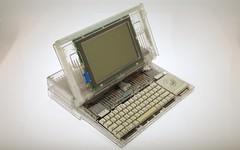 Apple Macintosh Portable (original, non-backlit) clear case prototype (jimabeles) Tags: apple macintosh portable case clear prototype clearcase