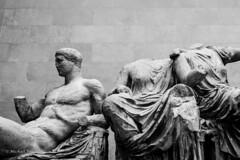 Greek statues from the Parthenon (mfauscette) Tags: leica uk travel blackandwhite london greek parthenon monochrom britishmuseum biogon352zm mmono carlzeissbiogen352zm