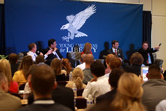 Mick Mulvaney, Raul Labrador, Michelle Fields, Justin Amash & Thomas Massie (Gage Skidmore) Tags: justin arlington liberty for virginia george university labrador thomas mason young michelle national convention fields americans raul mick massie 2013 mulvaney amash