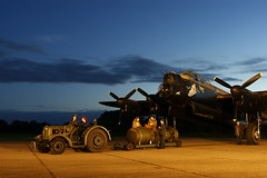 Load up! (gooey_lewy) Tags: boy bird night truck plane lights war aircraft aviation centre engine neil center spot lincolnshire east merlin lancaster cave tall bomb heavy bomber propeller airfield avro kirkby