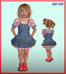 ND/MD Cuties Playground Dress (Alea Lamont) Tags: girl playground hair children kid clothing toddler skins child dress mesh sandals shapes avatars jeans dresses cuties bodies dva lovesoul ndmd