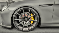 Brembo Brakes and Forgestar Wheels on a BMW 650i (Millionaire Car Club) Tags: car wheel canon wheels german bmw brakes nik m6 carshow brembo f12 bmwm6 caliper rotors 650i bmw650i worldcars forgestar