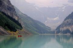 (MattieC.) Tags: travel lake canada mountains calgary nature water canon landscape eos kayak louise alberta banff 550d