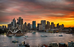 Great sunset from Kirribilli (MisterBobo) Tags: bridge sunset house opera harbour sydney australia hdr