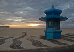 Kiosk Sunset (Jan Herremans) Tags: sunset beach portugal kiosk fozdoarelho janherremans costadoprata