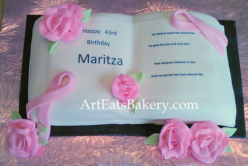Prime Bible 3D Birthday Cake With Bible Verse Breast Cancer Pink Personalised Birthday Cards Beptaeletsinfo