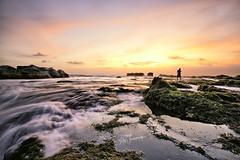 Sunset @ Bali, Indonesia (GC9298) Tags: sunset bali indonesia rocks waves photographer blending burningclouds labcolor luminositymask