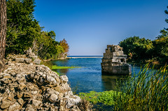 Unknown (Melissa Maples) Tags: blue water turkey river nikon ruins asia trkiye tomb sigma 1020mm olympos  lycian   f456 hsm  1020mmf456 d5100