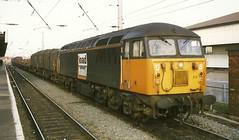 EWS Class 56 56111 - Warrington Bank Quay (dwb transport photos) Tags: grid warrington diesel railway locomotive warringtonbankquay ews 56111 loadhaul