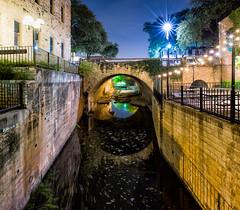 Austin River Walk (-Dons) Tags: panorama usa reflection water night austin lights texas unitedstates tx pano 6thstreet easytiger
