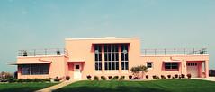 Florida Tropical House (SOMETHiNG MONUMENTAL) Tags: travel pink house beach architecture canon vintage indiana retro roadsideamerica indianadunes worldsfair modernist 1933 g12 beverlyshores housesoftomorrow somethingmonumental robertlawweed mandycrandell