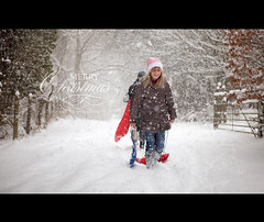 It's the most magical time of the year... (Stuart Stevenson) Tags: uk winter red snow kids festive photography scotland holidays sledge clydevalley christmasmagic stuartstevenson ©stuartstevenson wwwzerogravitymeuk