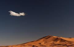 Cloud (ronan1) Tags: blue cloud sahara sand dunes morocco