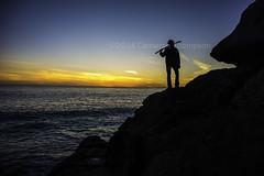 bored with a sword (SW23CT (CamsDigitalCanvas.com)) Tags: ocean california boy sunset sky man beach silhouette person pch sword cody katana camarillo hwy1 mugurock ptmugu nikond7100