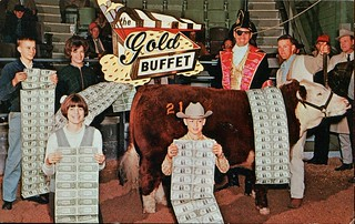 Five American Royal Exhibitors Were Pleasantly Surprised When The Gold Buffet Added The Weight Of The Exhibitor To The Weight Of The Animals In Arriving At The Final Price Paid, Gold Buffets Restaurants, Iowa
