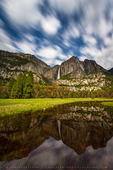 Yosemite Falls Reflecting Pool (Jim Patterson Photography) Tags: california nightphotography travel mountains nature night reflections stars landscape outdoors nationalpark spring icon valley yosemite moonlight reflectingpool sierranevada iconic upperyosemitefalls cloudmovement starrysky jimpattersonphotography jimpattersonphotographycom seatosummitworkshops seatosummitworkshopscom floodemeadow