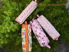 Estojos (Atelier Mimos da Fau) Tags: quilt borboleta corujas portalápis estojos portacanetas