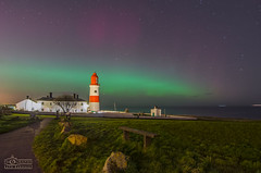 Souter Lighthouse Aurora Borealis (solidtext) Tags: lighthouse lights aurora northern southshields souter earthandspace nikond7000