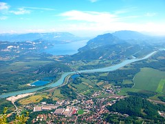 Culoz and the Lac du Bourget (Marc-Antoine-Panda) Tags: trees mountain snow france montagne alpes french landscape champagne lac grand mount le neige gorges paysage mont blanc fort petit rhone ain culoz colombier chavornay rosion bouget valromey brenaz lochieu virieu thurignin songieu