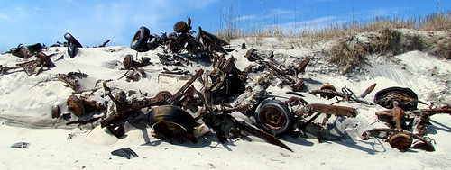 39 Buried Cars on the Island Cape Lookout NC 8386