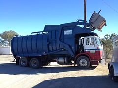 Maxon front load (Scott (tm242)) Tags: white trash dumpster truck one volvo garbage side debris rear disposal front bin collection rubbish trucks fl waste refuse recycle loader removal recycling load hopper collect legal packer rl haul asl wx msl whitegmc maxon xpeditor wx64
