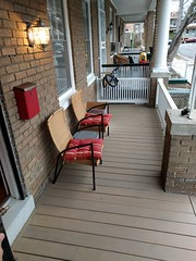 2017-03-01 16.38.58 (whiteknuckled) Tags: frontporch ouroldrowhouse porch front yard exterior deck decking railing outside