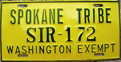 Spokane Tribe License Plate (Suko's License Plates) Tags: spokanetribe spokanetribes spokane license plate indiantribeslicenseplates triballicenseplates licenseplate matricula placa patente kennzeichen nummerschild targa targhe plaqueimmatriculation plaque numbertag tribe tribal native band government mc motorcycle nativeamericanindians indian