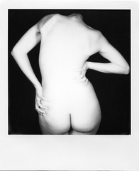 (Opetre) Tags: nude back schiena impossible project polaroid black white bianco nero dark pale skin lowkey hands naked