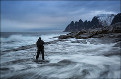 Photographers World (jeanny mueller) Tags: norwegen norway norge arctic winter sea seascape landscape senja senjahopen lofoten mountain wave waves clouds coast coastline tungeneset oksen