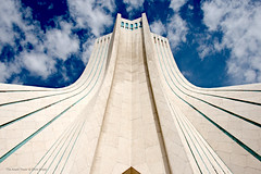 Azadi Tower (Chris Brady 737) Tags: azadi tower iran tehran sky monument marble persia shahyad