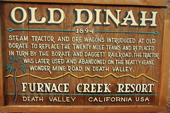2017_03_10 Furnace Creek, CA.PSE_03 (Walt Barnes) Tags: canon eos 60d eos60d canoneos60d wdbones99 topazsoftware pse15 steam steamtractor tractor rust rusty olddinah furnacecreek deathvalley sign signage