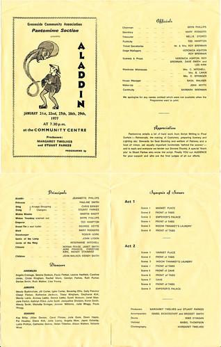 1977 Aladdin 00 Programme