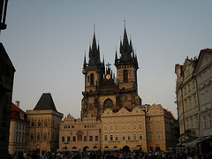 Prague (2009) (alexismarija) Tags: praha prague czechrepublic church our lady before týn churchofourladybeforetýn gothic architecture oldtownsquare history