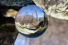 Crystal Ball at Green Fall Pond (alohadave) Tags: connecticut crystalball effects greenfallpond lenses newlondoncounty northamerica pentaxk5 places unitedstates voluntown smcpda1645mmf40edal