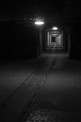 Tracks (CameraCat.) Tags: canon canon550d krakow cracow poland warsaw city monochrome blackandwhite saltmine wieliczka underground mine longexposure tracks shaft