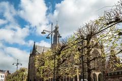 Spring (pierre bakker) Tags: haarlem noordholland netherlands nl spring lente church kerk grotemarkt building gebouw architecture architectuur city stad clouds sky trees