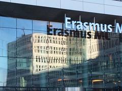 Reflective buildings (eLeM-O) Tags: refelction spring erasmus hospital typo