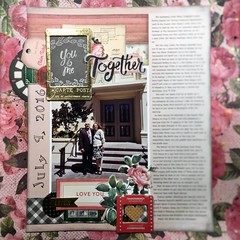 You and Me Together (girl231t) Tags: 2017 layout scrapbook rsg sketch8 paper 12x12layout sketchbased
