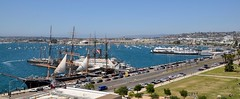 Star of India on Harbor Drive - San Diego (Blue Rave) Tags: 2017 ca california sandiego bay water sandiegobay street wideangle