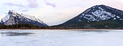 Frozen Vermilion Lake (Bluesky251) Tags: alberta banff canada cloud cold freeze frozen lake landscape melt mountains natural nature seasons skyline snow spring tourist travel trees vermilionlake white