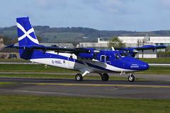 G-HIAL Twin Otter EGPF 22-04-17 (MarkP51) Tags: ghial viking dhc6300 loganair lm log turboprop glasgow airport gla egpf 22052017 scotland aviation airliner aircraft airplane plane image markp51 nikon d7200 aviationphotography