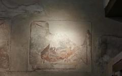 0012 Lupanar,Fresco above cubicle, Vicolo del Lupanare, Pompeii (1) (tobeytravels) Tags: pompeii lupanar brothel fresco