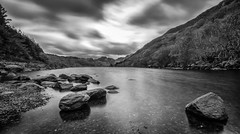 Caught... In time (Lee~Harris) Tags: lake water cloud sky rocks pov rugged longexposure exposure mono monochrome blackandwhite blackwhitephotos love outdoor reflection light shadow landscape wideangle 1020mm sigma 10stop nd mountains